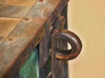 Medieval chest - detail stock images
