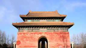 Medieval Chinese gate Royalty Free Stock Image