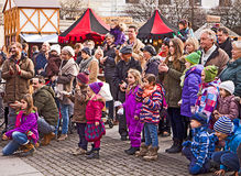 Medieval Christmas market, Munich Germany Royalty Free Stock Image