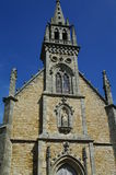 Medieval church. Medieval limestone church in brittany in france Stock Images