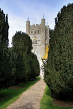 Medieval Church. Path between Trees to a Medieval English Village Church Stock Photos