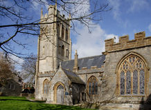 Medieval Church. Imposing Medieval English Village Church Royalty Free Stock Photo