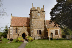 Medieval Church. Medieval English Village Church and Cemetery Stock Photography