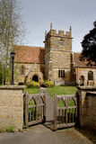 Medieval Church. Medieval English Village Church and Cemetery Royalty Free Stock Image