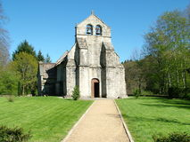 Medieval church. Architecture in rural France Stock Image