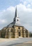 Medieval church. In small french village Royalty Free Stock Image