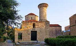 Medieval Church Agia Triada Rhodes. Medieval Church Agia Triada in old town of Rhodes stock images