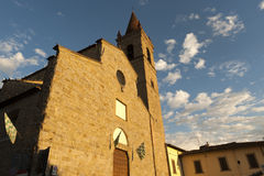 Medieval church in Arezzo (Tuscany, Italy) Stock Image