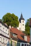 Medieval church Bergkirche in Zwingenberg Stock Photo