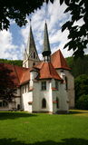 Medieval Church in Blaubeuren. The Abbey Church of Blaubeuren in the German state of Baden Wuerttemberg. It is part of a Benedictine monastery Stock Photography