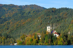 Medieval Church in Bled Royalty Free Stock Photo
