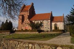 Medieval church. The medieval church of Blovstrod, Denmark which dates back to the 12. century Stock Photos
