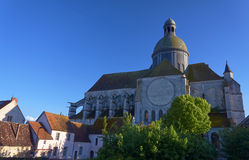 Medieval church and buildings Stock Image
