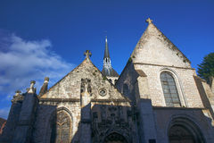 Medieval church and buildings Stock Photos