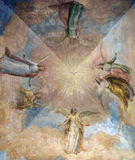 Medieval church ceiling painting Stock Photos