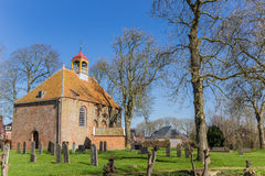 Medieval church in the center of Thesinge Royalty Free Stock Photo