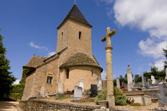 Medieval church and churchyard Royalty Free Stock Photo