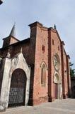 Medieval church Collegiata near Varese,italy Stock Photos