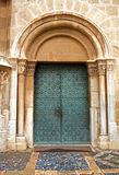 Medieval Church Copper Door Royalty Free Stock Photography