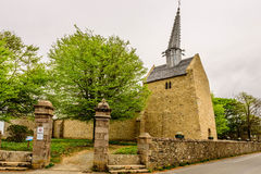 Medieval church, Cote du Granit Rose, Brittany, France Royalty Free Stock Photography