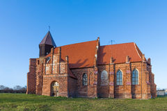 Medieval church in the countryside Stock Photo