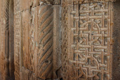Medieval church detail in Vagharshapat Royalty Free Stock Photos