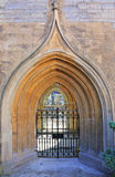 Medieval church doorway Stock Images