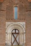 Medieval church entrance in Cuellar Stock Image