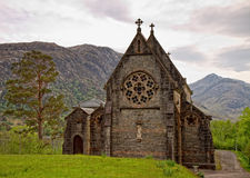 Medieval church in Glenfinnan, Scotland Stock Image