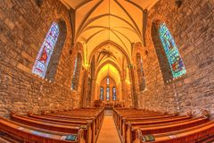 Medieval church Highlands Stock Photo