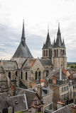 Medieval church. In the historic center of Blois town, France Stock Photography
