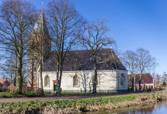 Medieval church in the historic village Zuidwolde Royalty Free Stock Images