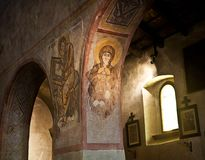 Medieval church interior, Italy Stock Image