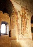 Medieval church interior, Italy Stock Photo