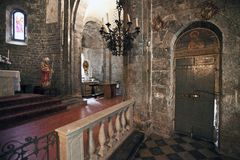 Medieval church internal Stock Photos