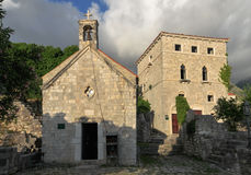 The Medieval Church. In Montenegro Old Bar Stock Photo