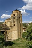 Medieval Church near the Monastery of San Juan de la Pena, Jaca, in Jaca, Huesca, Spain in the Pyrenees Mountains Royalty Free Stock Images