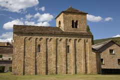 Medieval Church near the Monastery of San Juan de la Pena, Jaca, in Jaca, Huesca, Spain in the Pyrenees Mountains Royalty Free Stock Photos