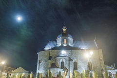 Medieval church in night Royalty Free Stock Images