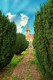 Medieval Church Path Stock Photo