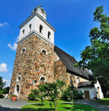 Medieval Church in Rauma, Finland. The medieval church, the Church of the Holy Cross, in the town of Rauma in Finland. The church is one of the oldest in the royalty free stock photos