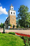 Medieval Church in Rauma, Finland. The medieval church, called the Church of the Holy Cross, in the town of Rauma in Finland. The church is one of the oldest in stock photos
