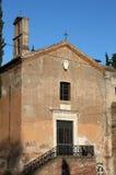 Medieval church in Rome Stock Photo