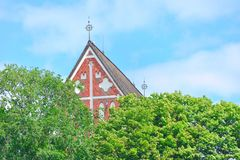 Medieval church roof of Porvoo cathedral Royalty Free Stock Photo