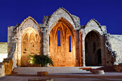 Medieval church ruins. Rhodes, Greece royalty free stock images