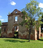 Medieval church ruins Royalty Free Stock Photo
