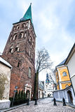 Medieval church of the Saint Jacob, Riga city, Latvia Royalty Free Stock Image