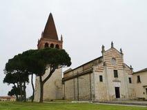 A medieval church in San Bonifacio in Italy Stock Photos