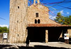 Medieval romanesque church, Italy Stock Images