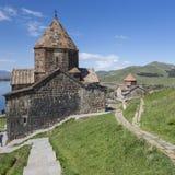 Medieval church on Sevan lake, Armenia Royalty Free Stock Photography